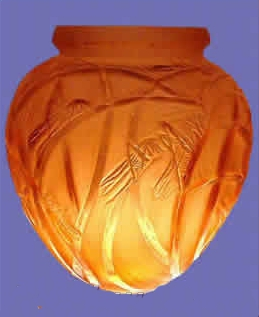 ルネラリック(Rene Lalique)の偽物の花瓶 コオロギ