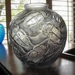 ルネラリック(Rene Lalique)の偽物の花瓶 カブトムシ