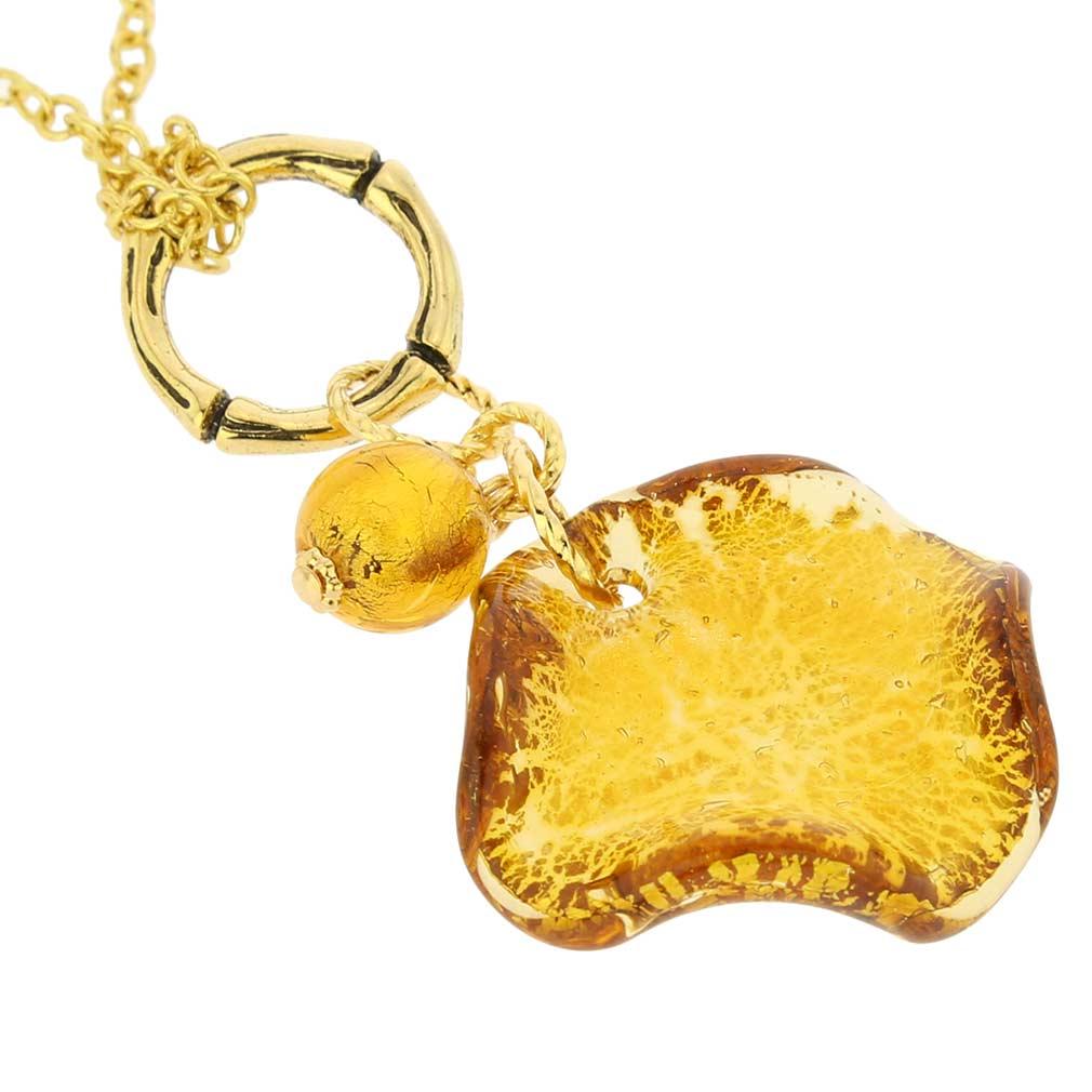 ベネチアングラス(ムラノガラス)ペンダント ネックレス アリア