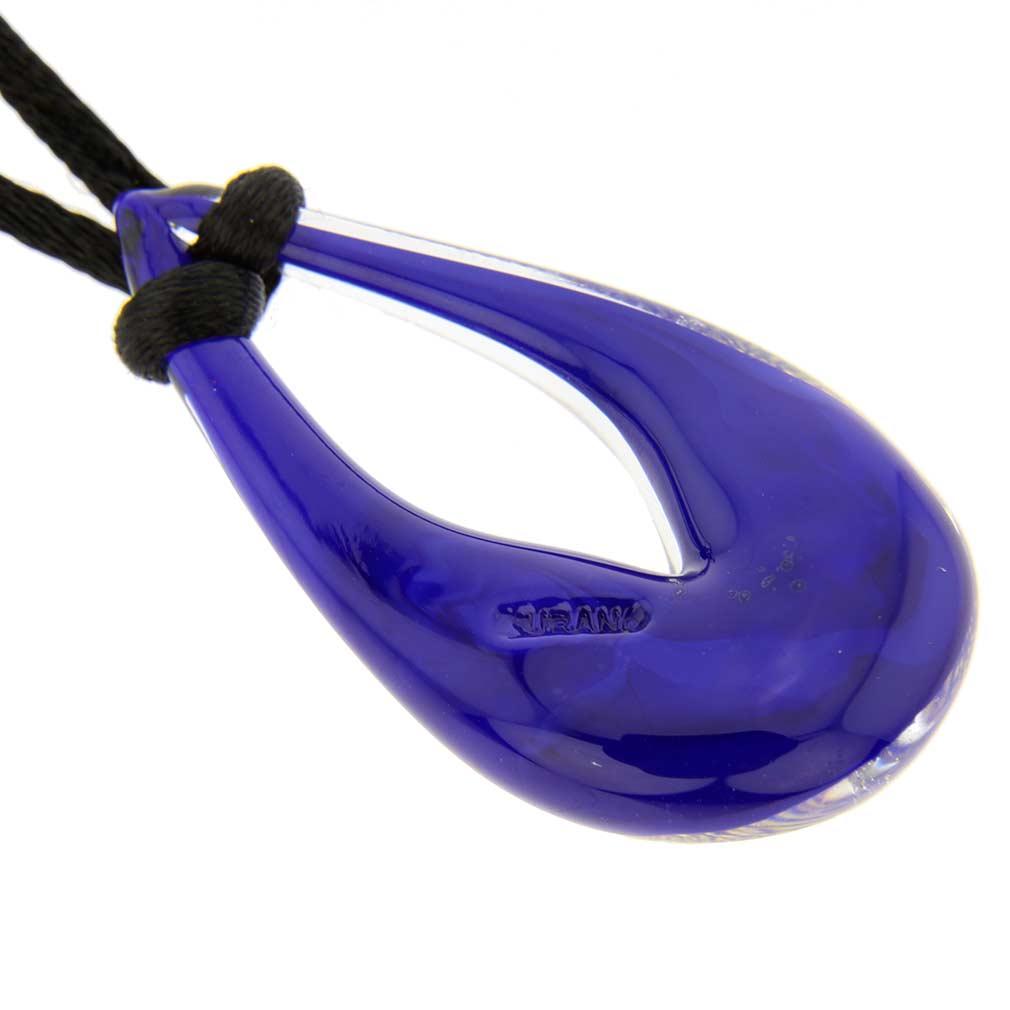ベネチアングラス(ムラノガラス) ネックレス ジェマ ブルー