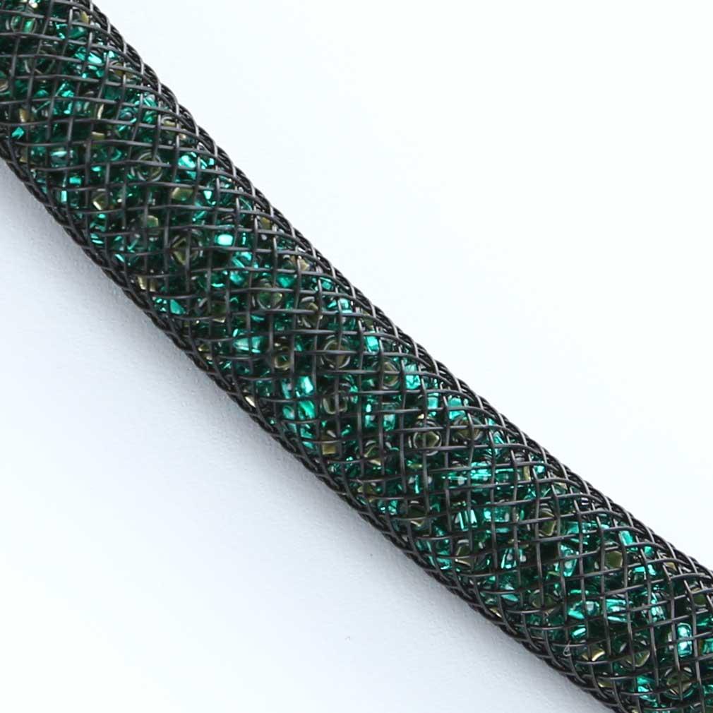 ベネチアングラス(ムラノガラス) ネックレス エレガンザ - エメラルドグリーン