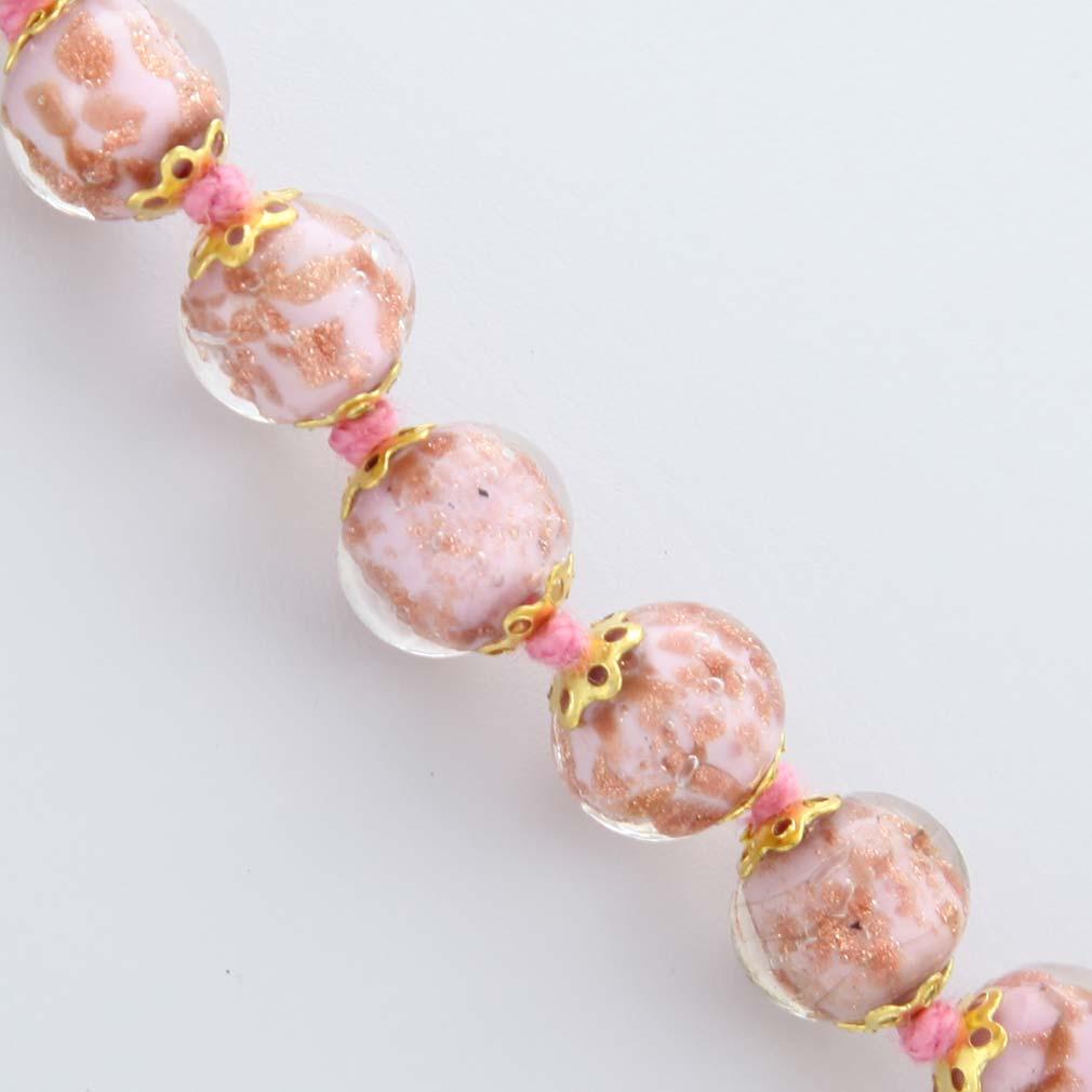 ベネチアングラスのアクセサリーネックレス ソンメルソ ネックレス ピンク