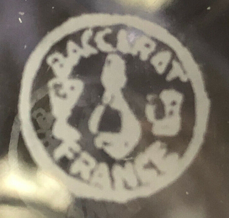 バカラグラス エッチングで描かれたサイン