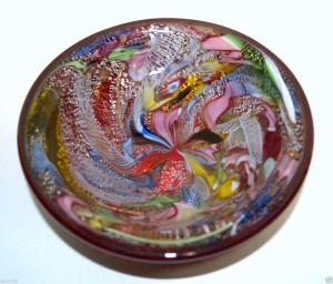 ベネチアングラス(ムラノガラス)の小物入れ