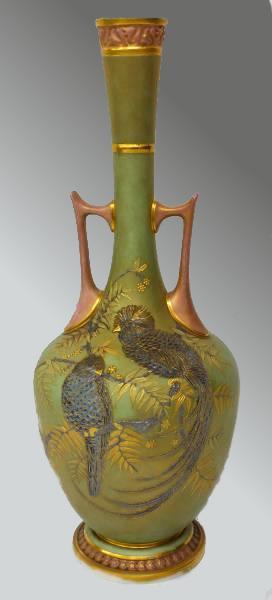 ロイヤルウースター royal worcester 小鳥が描かれた花瓶