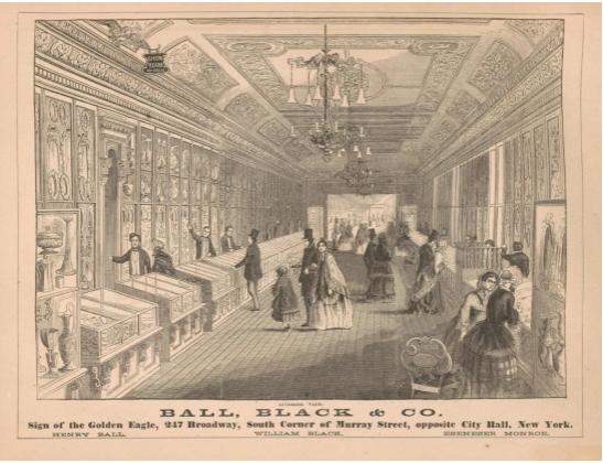 1852年ボール・ブラック社ブランドショップ