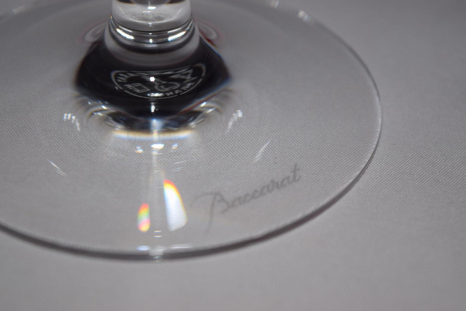 バカラのワイングラスの座面baccaartのエッチング