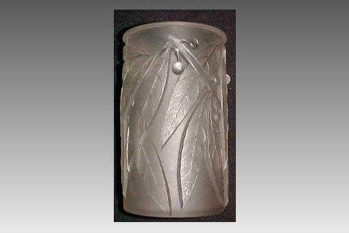 ルネラリック アールデコ花瓶 「ローリエ」 1925年頃 サイン有り