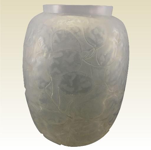 ルネラリック モネ・ド・ペプ オパール色のガラス花瓶 フランス、1914年頃