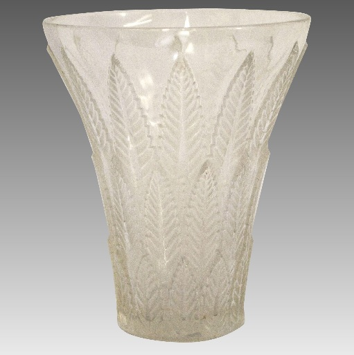 ルネラリック シャテーニュ模様の半透明花瓶