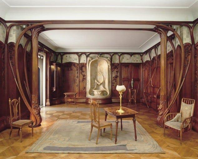 アレクサンドル・シャルパンティエのアール・ヌーヴォーによる内装