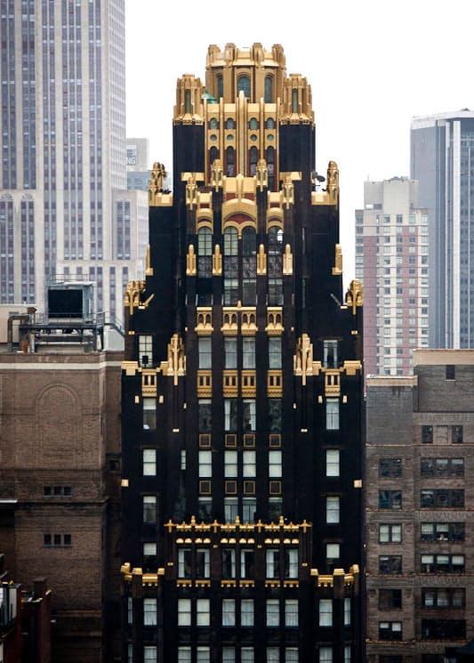 アメリカンラジエータービル。アール・デコ様式で建築