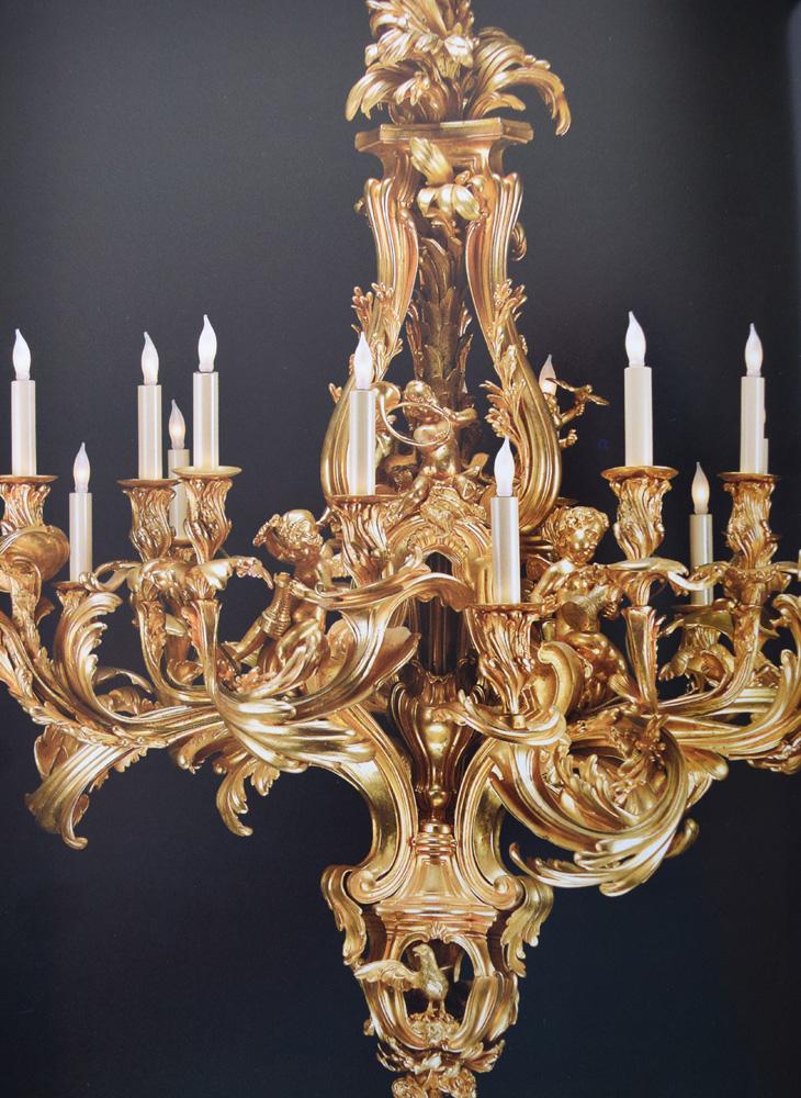 ルイ15世時代のロココ様式のシャンデリア