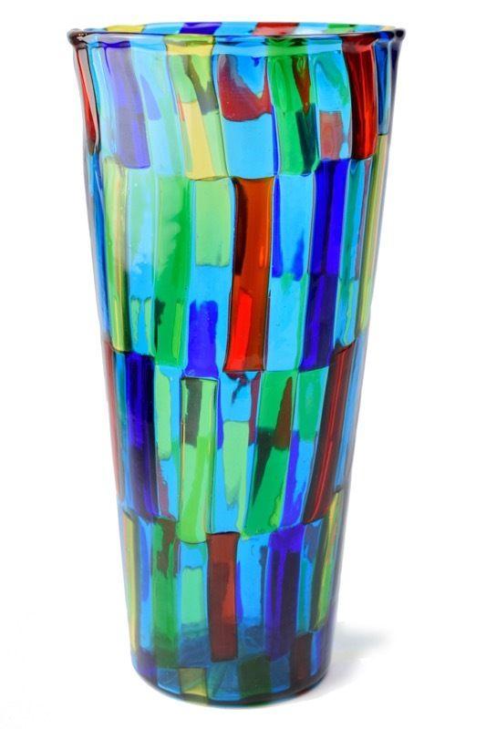 イタリアのヴェネチア製 ベネチアングラスの花瓶
