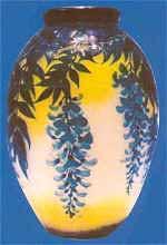 ミューラー兄弟(MullerFreresLuneville) ガラスのアンティーク花瓶