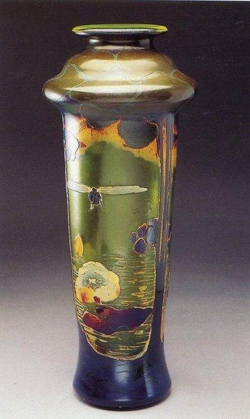 ミューラー兄弟(MullerFreresLuneville) ガラスの風景花瓶