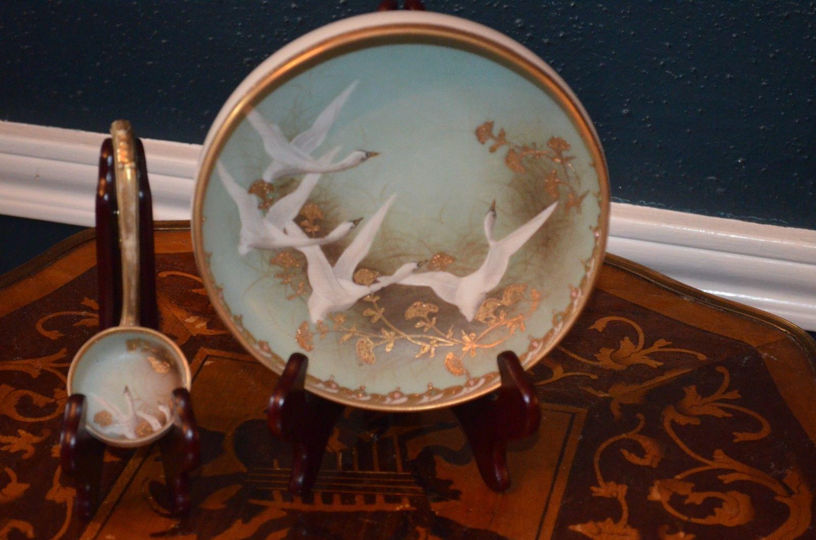 オールドノリタケ 飾り皿と柄杓のセット