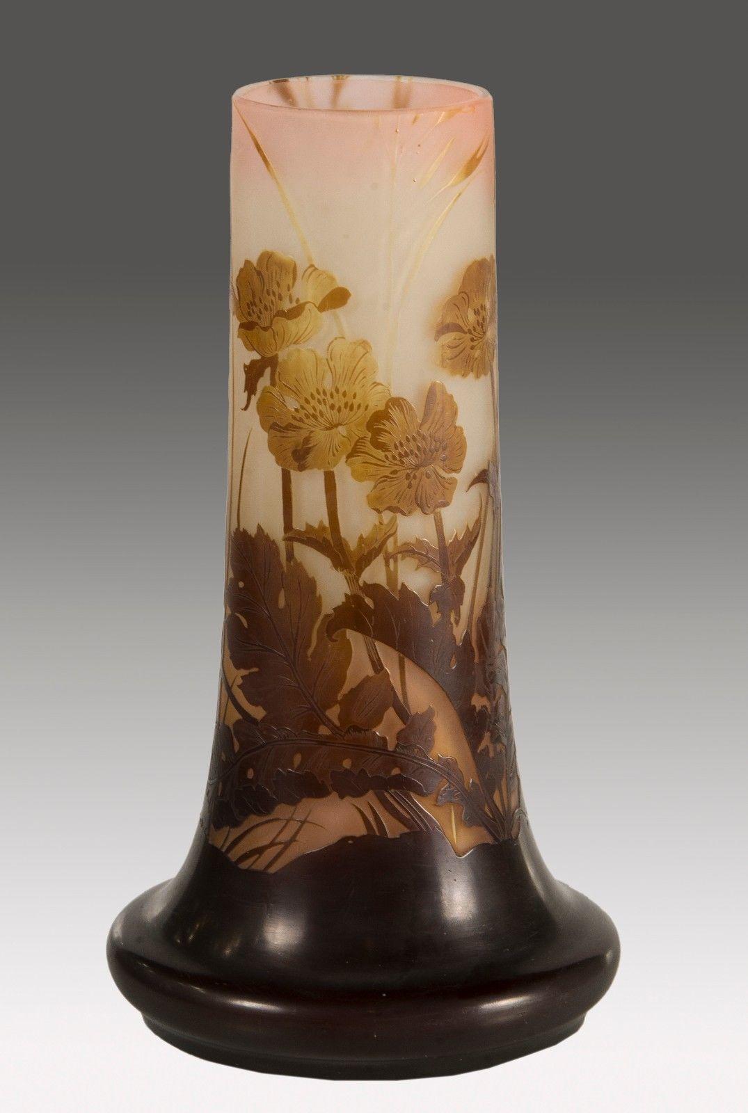 エミールガレ作 植物文様の花瓶