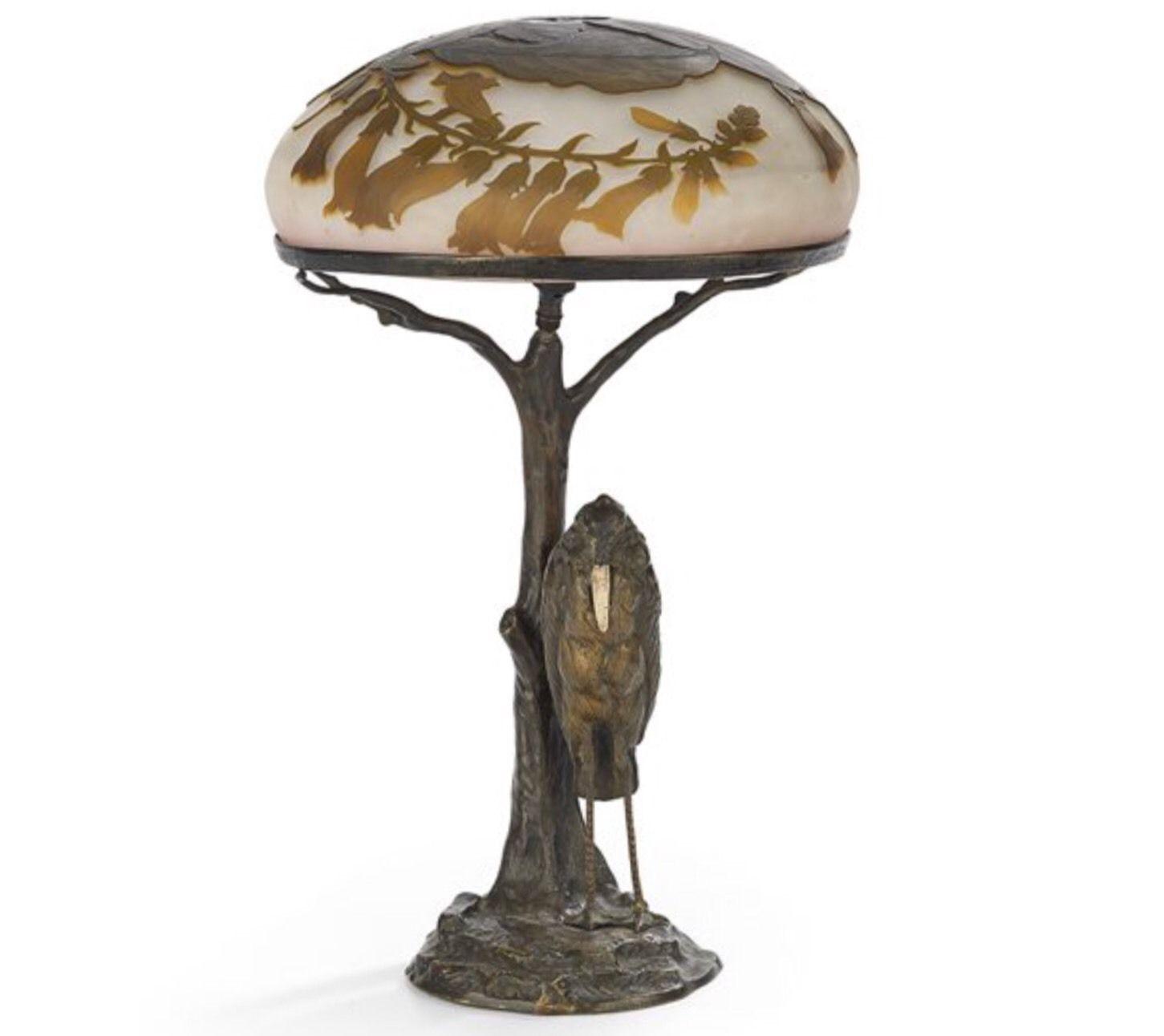 エミールガレ最高傑作の大型ランプ