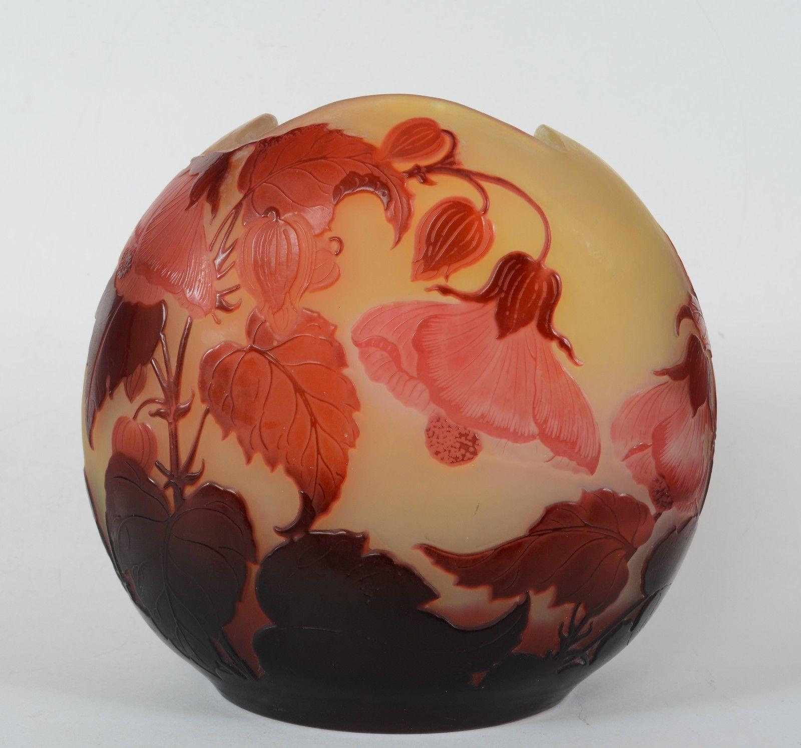 エミールガレ 花柄の花瓶