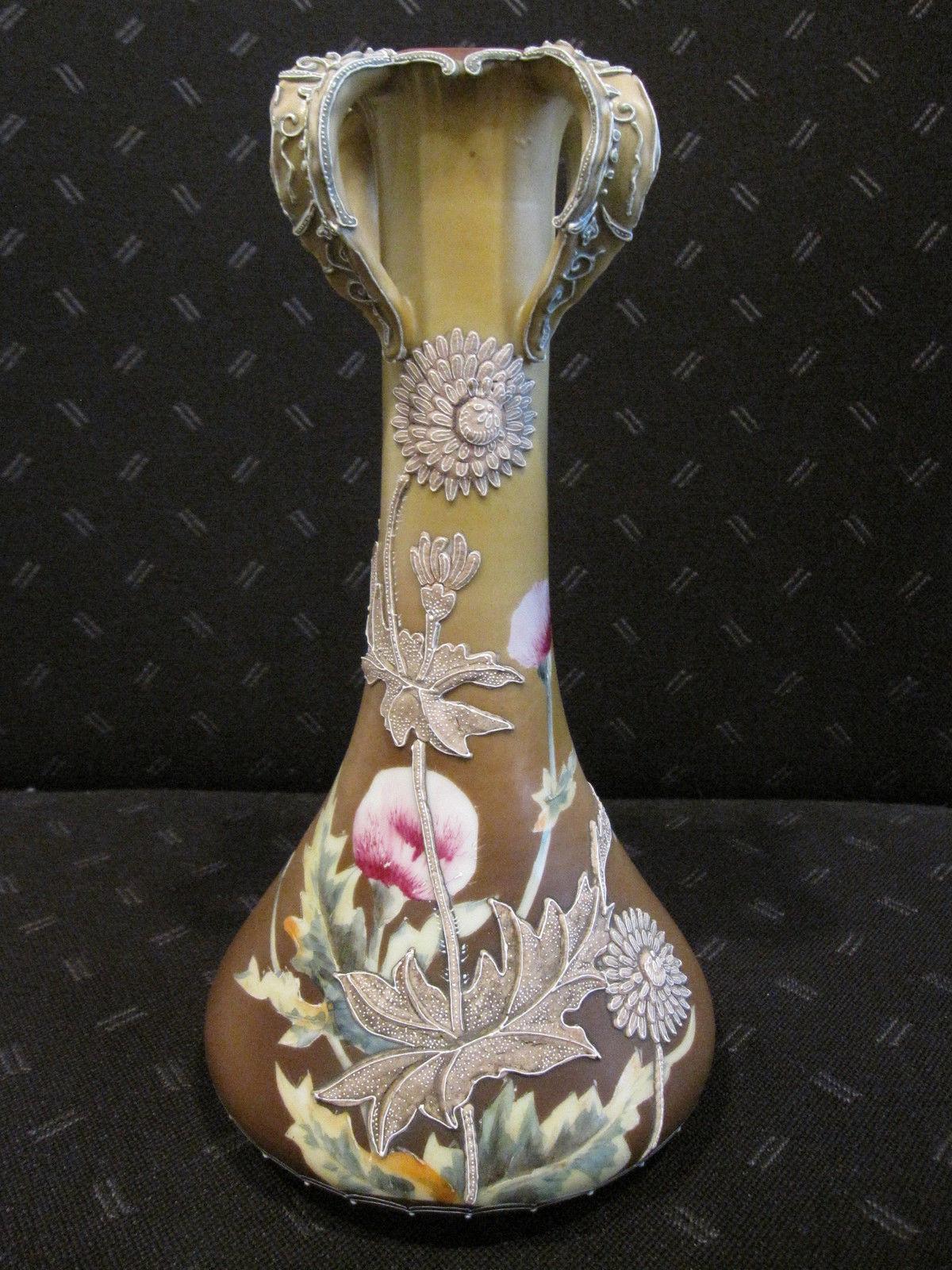 オールドノリタケの盛上技法を使った花瓶