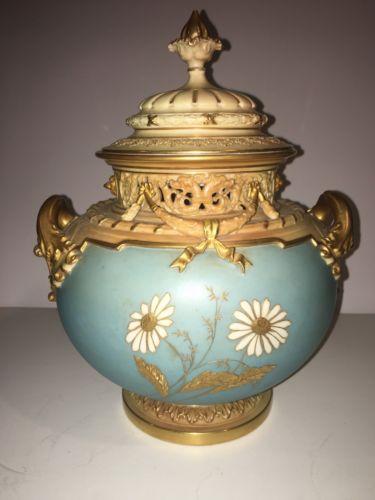 イングランド製 ロイヤルウースター蓋つき 花瓶