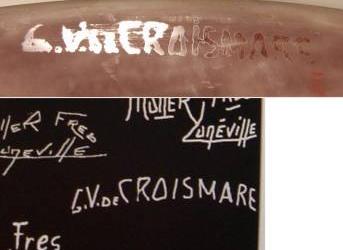 ミューラー兄弟のサイン・マーク(GV de CROISMARE)クロワマール工房