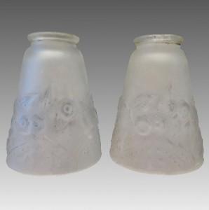ミューラー兄弟 リュネヴィル 工芸ガラス ランプシェード ペア
