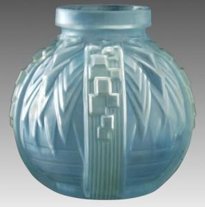 ミューラー兄弟 フランス製 成形 着色装飾ガラス 花瓶
