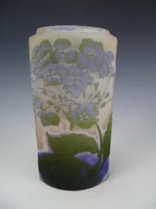 アンティーク ガレ カメオガラス 紫陽花の花の花瓶 1900年頃 フランス製