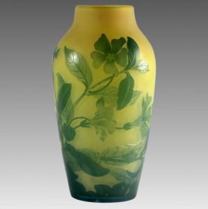 ガレ アシッド技法 エッチング カメオガラス 花瓶