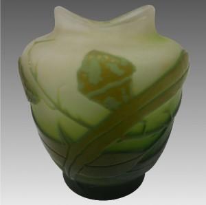 フランスのガラス工芸家 エミールガレ ミニチュア カメオガラス 花瓶