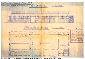 シュナイダー兄弟 エピネー・シュル・セーヌのクリスタルガラス工場設計図 1947年