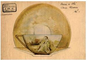 シュナイダー兄弟 ガストン・ホフマンによるティーカップの習作 1914年
