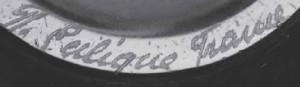 ラリックj1945年以前の線刻サイン本物