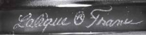 ラリック1945年以降の線刻サイン本物