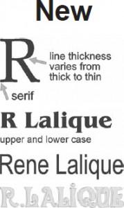 ラリック偽造サインフォント特徴