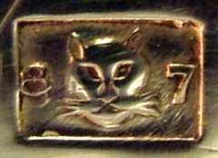 クリストフルの猫マーク(製造番号2805329)