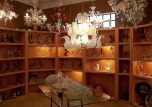 ベネチアングラス(ムラノガラス)のショップ風景