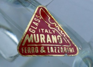 ベネチアングラス(ムラノガラス)の純正のラベル