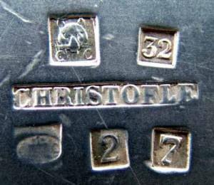 クリストフルの銀器の模様(ムッソ支社)