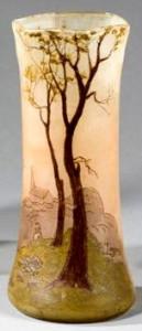 フランスのガラス工芸家ルグラの花瓶