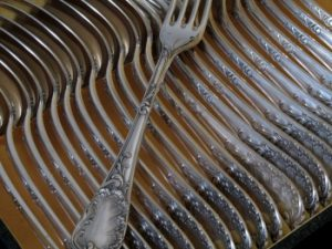 ピュイフォルカのスターリングシルバー食卓食器60本セットのフォーク
