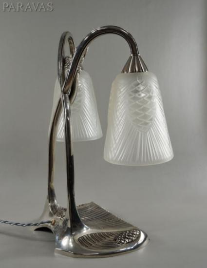 ロバート・ブスケ&デュゲ:フランス アールデコ調 ランプ 1930年