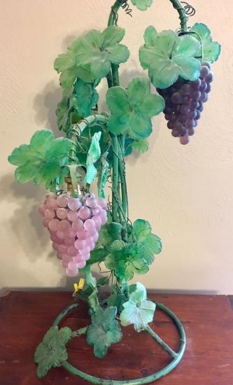 ベネチアングラスヴィンテージ ムラノガラス アールヌーボー 葡萄のテーブルランプ