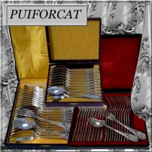 ピュイフォルカのスターリングシルバー食卓食器60本セット