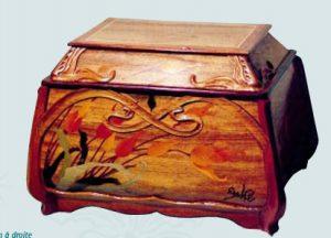 エコール・ド・ナンシー美術館蔵のエミール・ガレ「チューリップの化粧小箱」の偽物