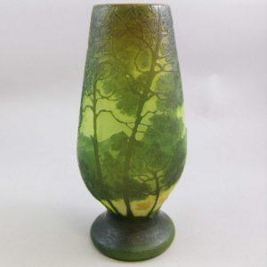 ルグラ アシッドカット フランス製 カメオグラス 美しい景色の花瓶