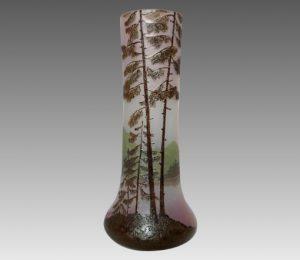 ルグラ カメオ アシッド エッチング エナメル 美しい景色の花瓶 背が高い 良い色付け 良品質