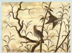 エミール・ガレ 日本的陶器作品「夜」の絵
